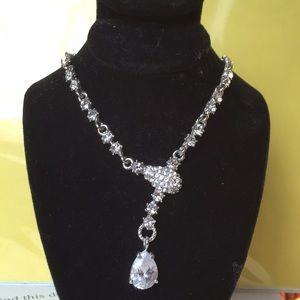 Italian made Malis Henderson crystal necklace